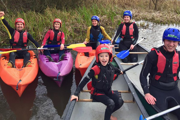 Canoeing at Margam Park Adventure