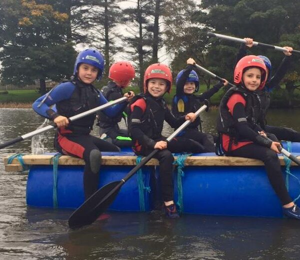 Margam Park Adventure Raft Building