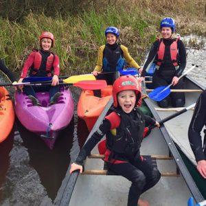 Canoeing at Margam Park Adventure